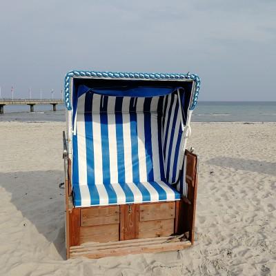 Strandkorb in bester Lage