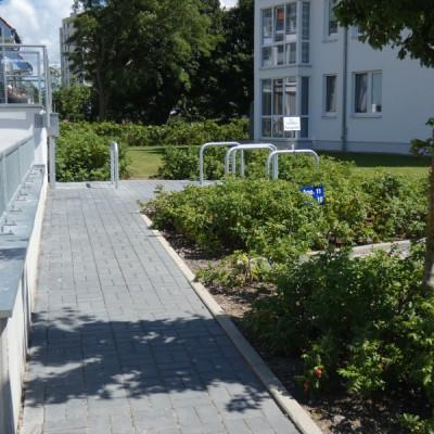 Fahrradabstellplatz Haus Meeresrauschen